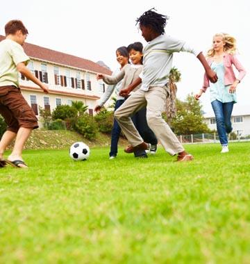 Football In A Park