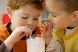4824253 Drinking Milk