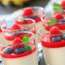 Panna cotta with fruit