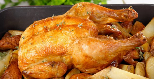 Roasted Chicken with Herbed Potatoes