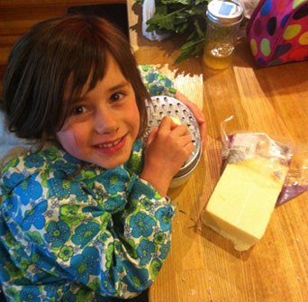 Grating Cheese!