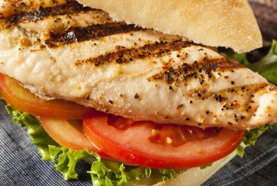 Easy grilled chicken sandwich