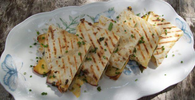 Grilled Peach Quesadillas