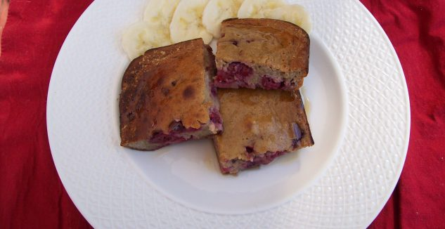 Flourless PB&J Oven Pancake
