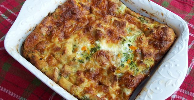 Broccoli Cheese Strata