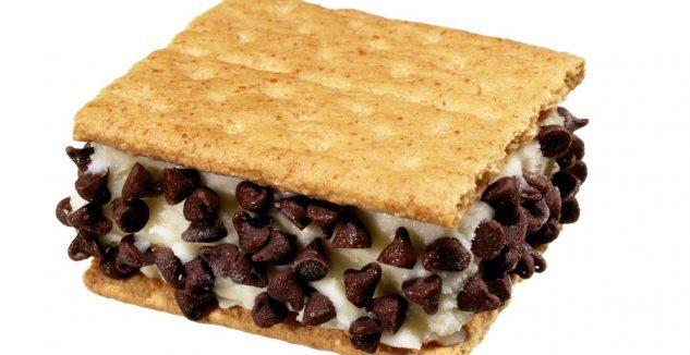 Berry and chocolate ice cream sandwich