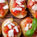 Open faced caprese sandwich
