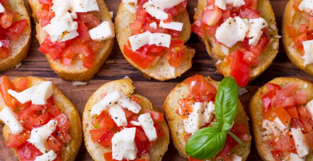 Open-Faced Caprese Sandwiches