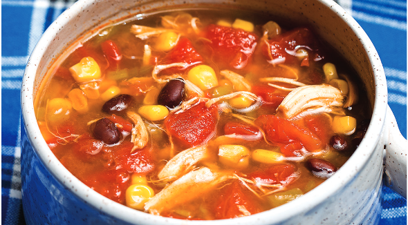 Slow Cooker Chicken Santa Fe Soup