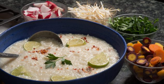 Cambodian Chicken Rice Soup