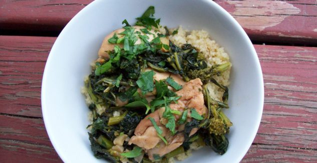 Brown Butter Chicken with Broccoli Rabe