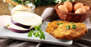 Crisp Eggplant Rounds Baked with Bread Crumbs