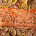 Edible Pioneer Valley Salmon with Potatoes
