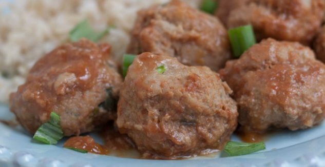 20 Minute Peachy Ground Turkey Meatballs
