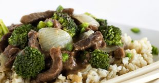 Beef, Brown Rice, and Broccoli Stir-Fry