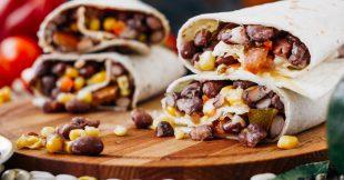 Tacos suaves de frijol negro