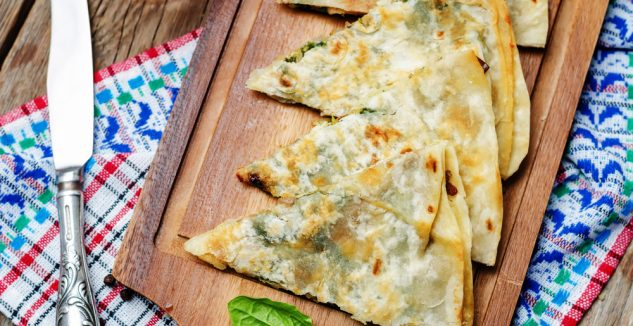 Spinach and Feta Cheese Pizza-dilla