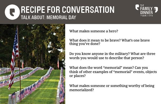 Family Dinner Conversations for Memorial Day - The Family Dinner