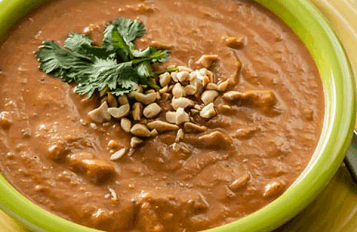 sweet potato peanut curry soup