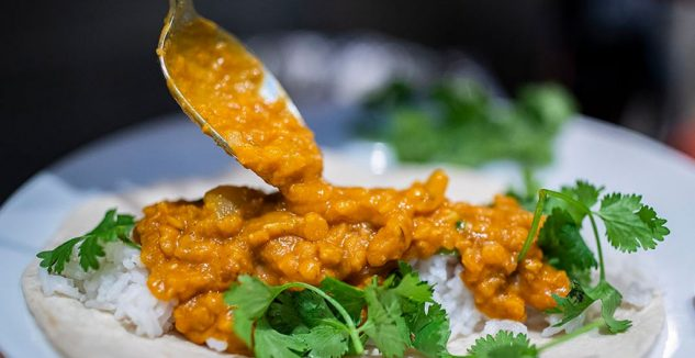 Slow Cooker Red Lentil Coconut Curry